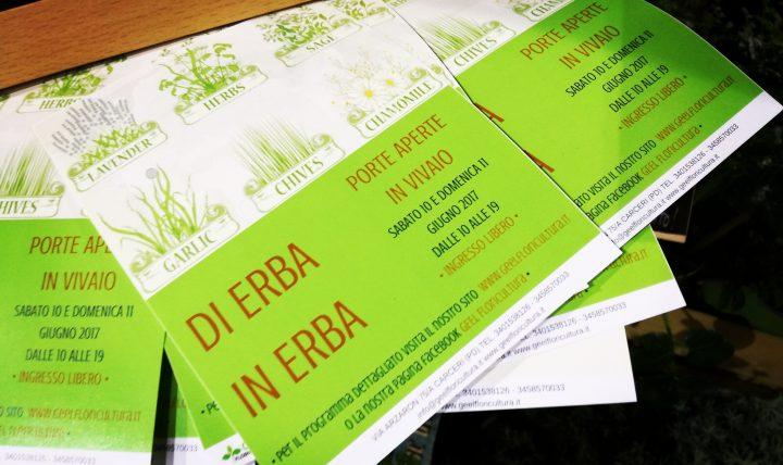 Programma di Erba in Erba 2017