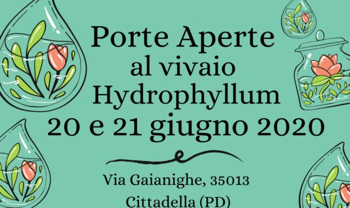 Porte Aperte al vivaio Hydrophyllum – 20 e 21 giugno a Cittadella