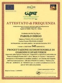 Geel Floricultura - Attestato Corso Parolo Diego