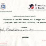 Riconoscimenti Geel Floricultura - Franciacorta in Fiore 2014 - Attestato