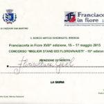 Riconoscimenti Geel Floricultura - Franciacorta in Fiore 2015